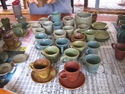 陶藝組生產之產品:咖啡杯組